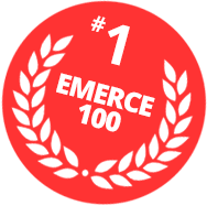 Emerce badge van de mailing software van Mark-i