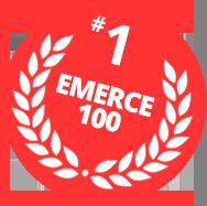 Emerce badge van de mailing software van Mark-i